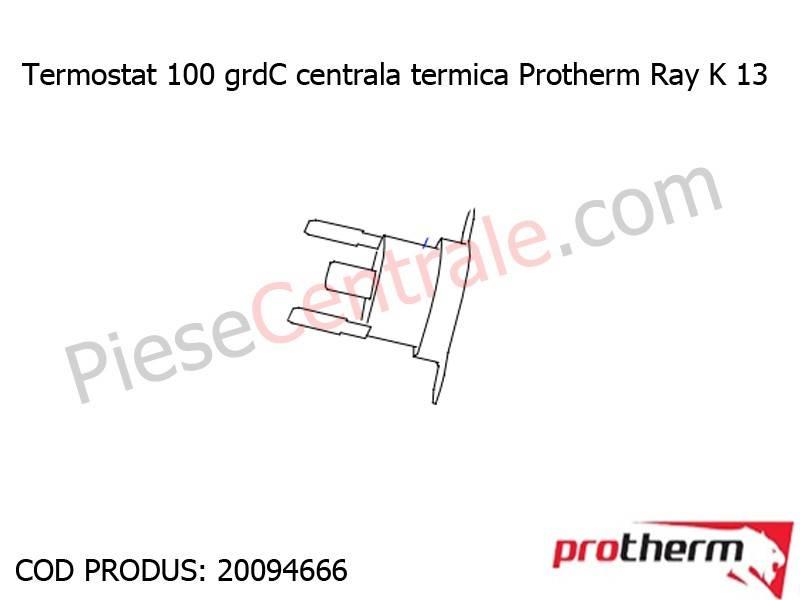 Poza Termostat 100 grdC centrala termica Protherm Ray K 13
